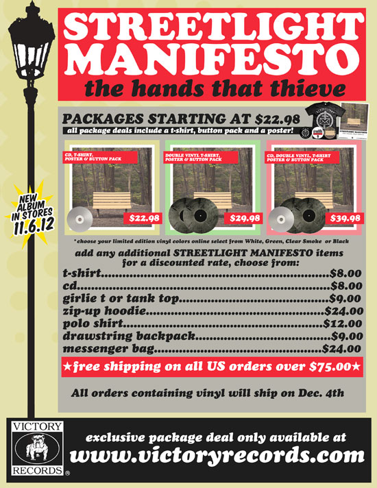 Punkvideosrock Streetlight Manifesto Pre Order Packages