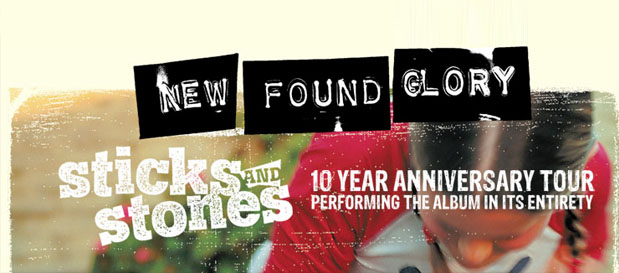 New Found Glory Announce Sticks and Stones Anniversary Tour!