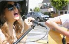 "Juliet Simms performs ""Wild Child"" acoustic on Sunset Strip"