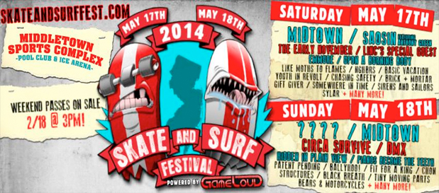 Skate & Surf Festival announce Midtown & Saosin return w/ @RobertHerrera3