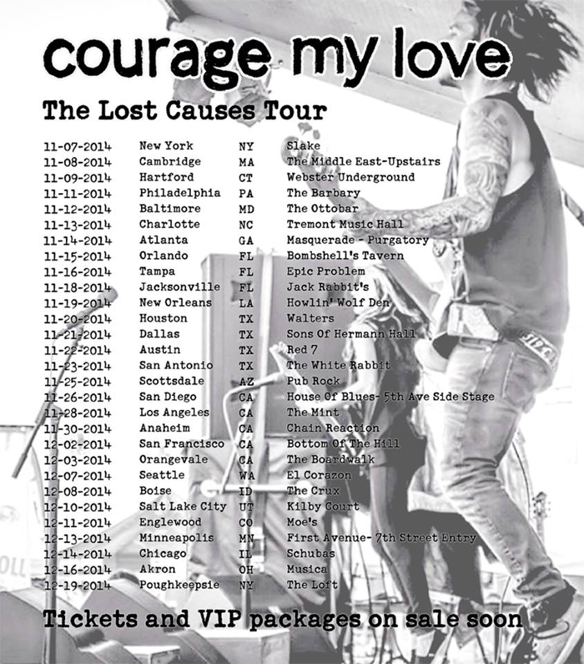 Courage To Love: Courage My Love Announces The Lost Causes
