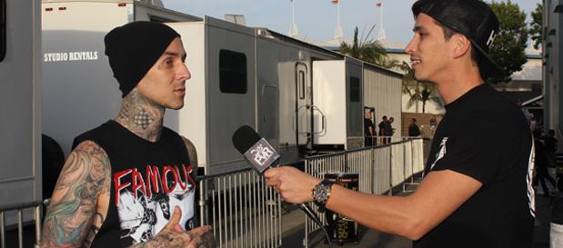 Travis Barker talks Blink 182 shows, ADTR and Demi Lovato w/ @RobertHerrera3