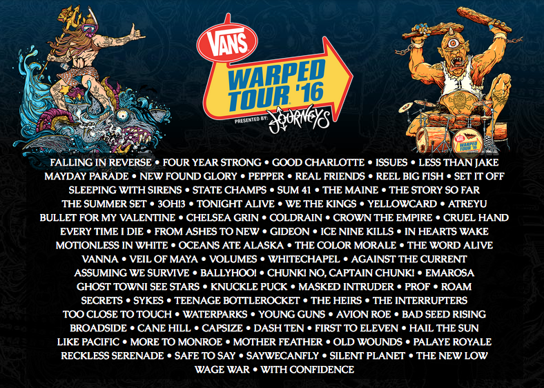 vans warped tour has announced dates for its 2012 festival yes 2011 s ...