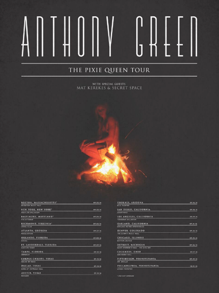 Anthony Green 2016 Tour