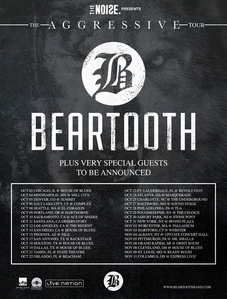 Beartooth Aggressive Tour