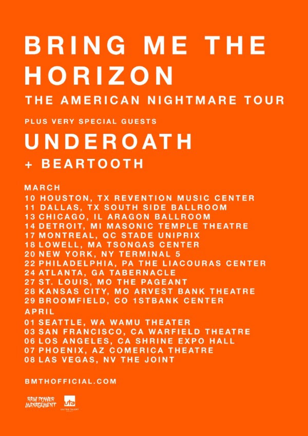 punkvideosrock bring me the horizon announces underoath beartooth as special guests for the. Black Bedroom Furniture Sets. Home Design Ideas