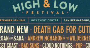 High And Low Festival To Feature: Brand New, Death Cab For Cutie, Tegan and Sara, more
